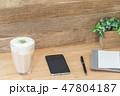 カフェイメージ チーズティー スマートフォン スケジュール帳 47804187
