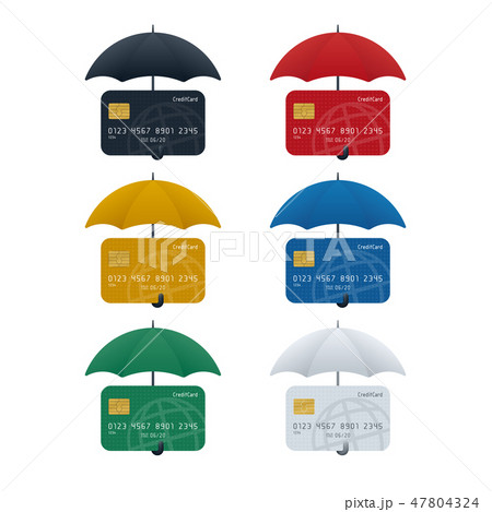 Credit card protection concept 47804324