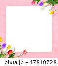 背景-花-壁-春-ピンク-チューリップ-ホワイトボード 47810728