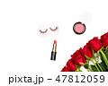 リップスティック 薔薇 ハートの写真 47812059