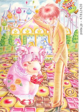 恋くまマカロン メリーゴーランド バレンタイン 47812420