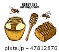 はちみつ 蜂蜜 蜜のイラスト 47812876