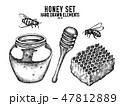 はちみつ 蜂蜜 蜜のイラスト 47812889