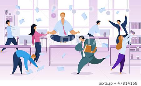 Work Rush, Office Routine Vector Illustration 47814169