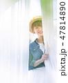 カジュアルウェディング 花嫁 ウェディングの写真 47814890
