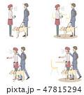 日本ユニバーサルマナー協会監修素材 視覚障害者 47815294