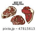 ビーフ ステーキ肉 お肉のイラスト 47815613