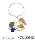 会話 おしゃべり 女性のイラスト 47815642