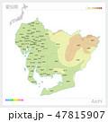 愛知県の地図(等高線・色分け・市町村・区分け) 47815907