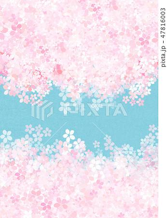 桜 和紙風 テクスチャー 47816003