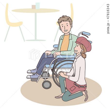 日本ユニバーサルマナー協会監修素材 肢体障害者 47816343