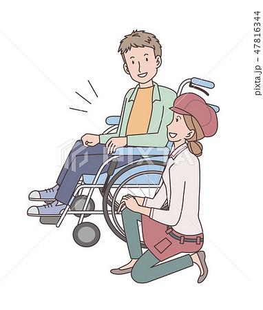 日本ユニバーサルマナー協会監修素材 肢体障害者 47816344
