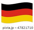 ドイツ連邦共和国 国旗(縁あり) 47821710