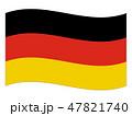ドイツ連邦共和国 国旗(縁あり) 47821740
