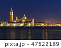 ヴェネチア ベニス 夜景の写真 47822189