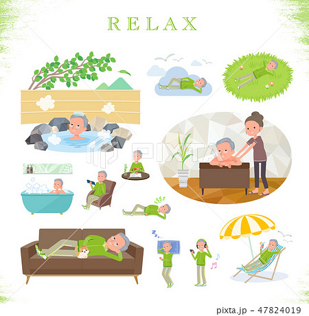 flat type grandpa green Sportswear_relax 47824019