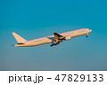 飛行機 飛行 航空機の写真 47829133