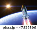 地球 大地 軌道を回るのイラスト 47829396