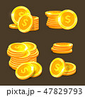 金 黄金 金色のイラスト 47829793