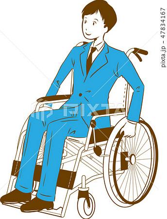 日本ユニバーサルマナー協会監修素材:車椅子 47834167