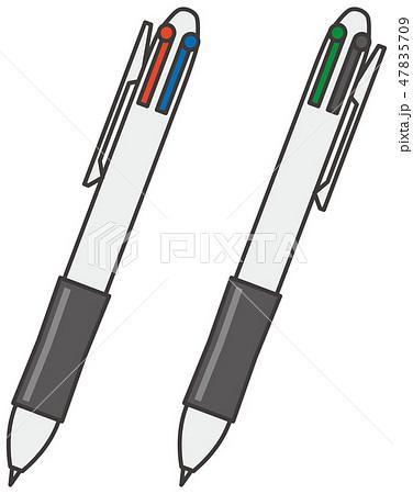 4色ボールペンのイメージイラストのイラスト素材
