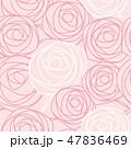 バラ 花 模様のイラスト 47836469