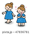 おばさん 女性 笑顔のイラスト 47836781