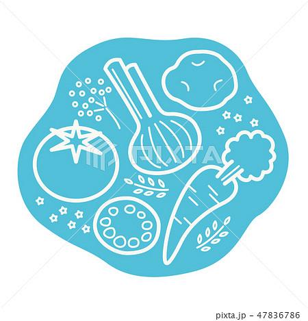 野菜マーク 47836786