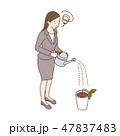 水やり 芽 困るのイラスト 47837483