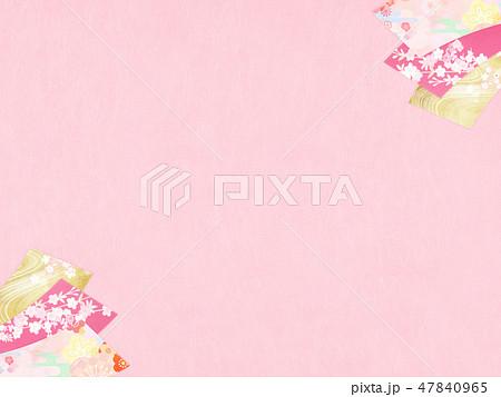 和-和風-和柄-背景-和紙-春-桜-ピンク 47840965