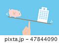 病院とお金の天秤イメージ 47844090