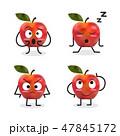 りんご アップル リンゴのイラスト 47845172
