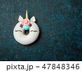 ユニコーン 一角獣 ドーナツの写真 47848346