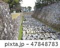 天守閣木造復元工事が始まる名古屋城にて 47848783