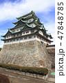 天守閣木造復元工事が始まる名古屋城にて 47848785