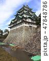 天守閣木造復元工事が始まる名古屋城にて 47848786