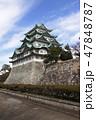 天守閣木造復元工事が始まる名古屋城にて 47848787