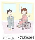 日本ユニバーサルマナー協会監修素材+車椅子女性um_001_04 47850894