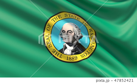 State of Washington flag. Flags of the states of USA. 47852421