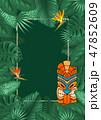 トロピカル 熱帯 フレームのイラスト 47852609