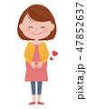 笑顔 幸せ 妊婦のイラスト 47852637
