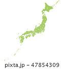 日本 日本地図 日本列島のイラスト 47854309