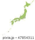 日本 日本地図 日本列島のイラスト 47854311