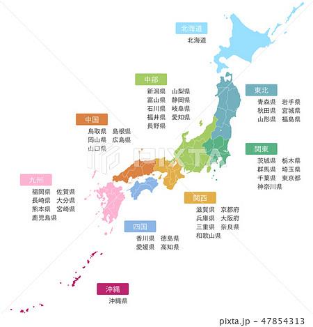日本地図 47854313