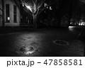 霧 真夜中 建物 クラシック 幻想的 モノクロ 47858581
