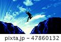 ジャンプ シルエット 女性のイラスト 47860132