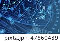 グラフ サイバー データのイラスト 47860439