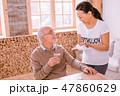 ボランティア 老人ホーム 患者の写真 47860629
