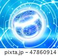球体 サイバー データのイラスト 47860914
