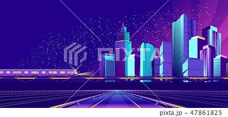 Vector banner night city 47861825